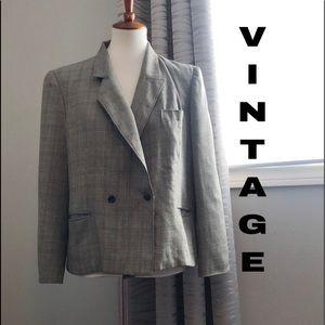 Vintage 90's boxy plaid blazer